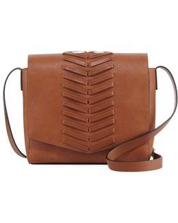 Emory Whipstitch Flap Crossbody Bag