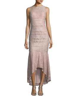 Floral-lace High-low Dress