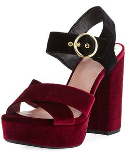 Maria Two-tone Platform Sandal