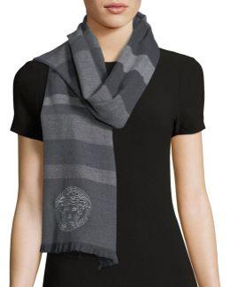 Horizontal Striped Wool Scarf