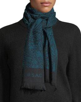 Intricate Medusa Wool Scarf