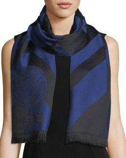 Diagonal Lines Wool Scarf