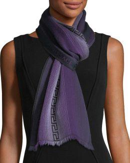 Ombré-pattern Wool Scarf