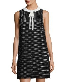 Joelle Perforated Shift Dress