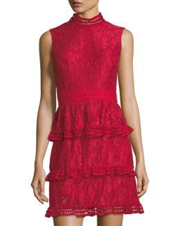 Brea Tiered-lace Dress