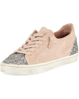 Xyla Classic Suede Glitter Sneaker