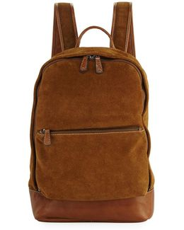 Chris Suede Dual-zip Backpack