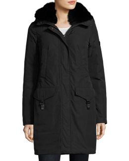 Felicity Fur-trim Water-repellant Jacket