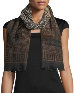 Maze Pattern Wool Scarf