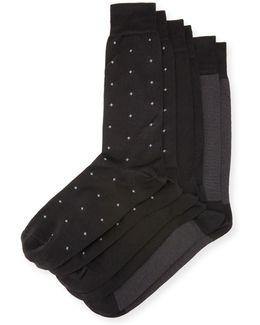 3-pair Half-calf Socks Set