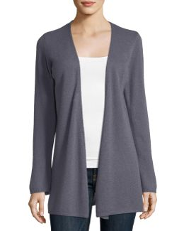 Cashmere Open-front Duster