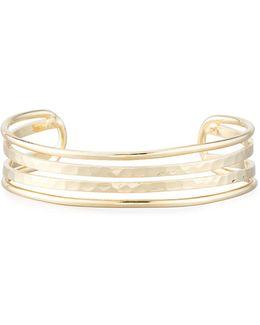 Hammered Multi-row Cuff Bracelet