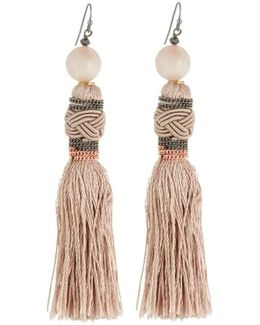 Braided Tassel Drop Earrings
