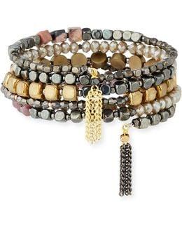 Multi-beaded Cuff Bracelet