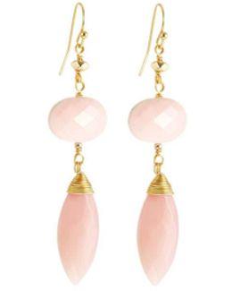 Quartz Double-drop Earrings