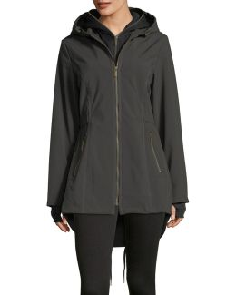 Zip-front Coat W/ Detachable Soft Shell Lining