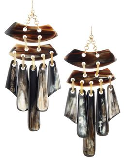 Statement Horn Chandelier Earrings