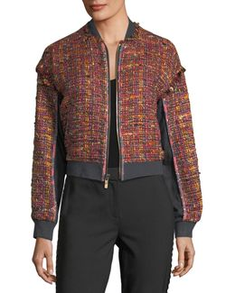 Bayler Tweed Bomber Jacket