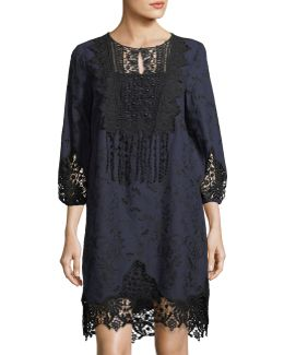 Amanda Lace-trim Shift Dress