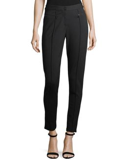 Compressed Knit Skinny Ankle Pants