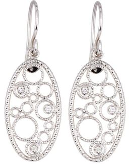 Bollicine 18k White Gold Drop Earrings With Diamonds