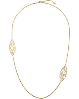 Bollicine 18k Yellow Gold Long 2-station Necklace