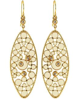 Bollicine Small 18k Yellow Gold Drop Earrings With Diamonds