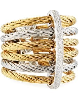 Classique Multi-row Micro-cable Band Ring