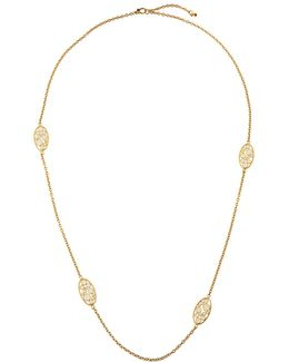 Bollicine 18k Yellow Gold Long Enameled 2-station Necklace