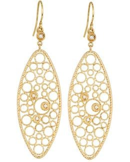 Bollicine 18k Yellow Gold Drop Earrings With Diamonds