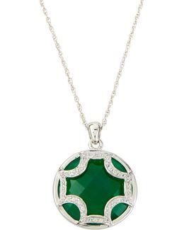 Green Amethyst Maltese Pendant Necklace