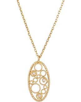 Bollicine 18k Yellow Gold Small Pendant Necklace W/ Diamonds
