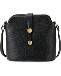 Framed Dome Leather Crossbody Bag