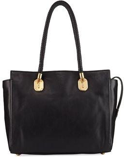 Benson Ii Leather Work Tote Bag