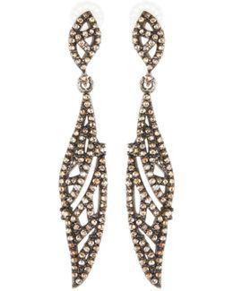Asymmetric Champagne Diamond Drop Earrings