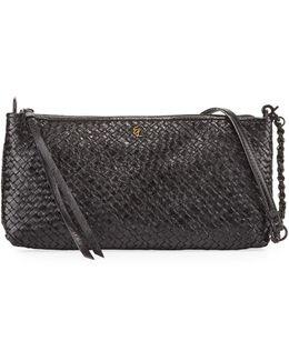 Demi Three-way Woven Leather Crossbody Bag