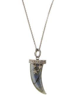 Labradorite & Diamond Talon Pendant Necklace