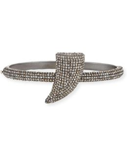 Pave Diamond Horn Bangle Bracelet