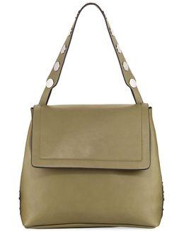 Celia Large Smooth Studded Flap Bag