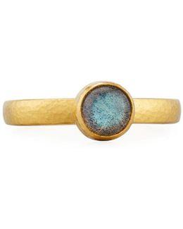 Amulet Hue 24k Labradorite Ring