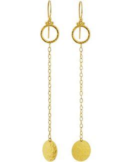Lush 24k Long Dangle Earrings