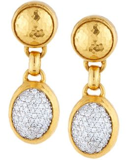 Amulet 24k Pave Diamond Double-drop Earrings