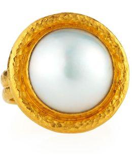 Madison 24k Mabe Pearl Ring