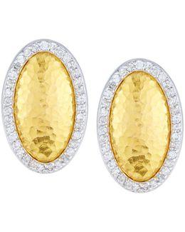 Jordan 24k Oval Diamond Stud Earrings