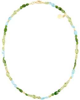 Single-strand Multi-gemstone Beaded Necklace