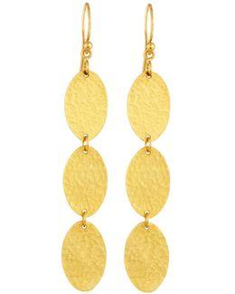 Mango 24k Triple-drop Earrings