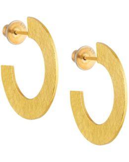 Hoopla 24k Simple Infinity Hoop Earrings