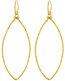 Hoopla 24k Large Marquise Drop Earrings