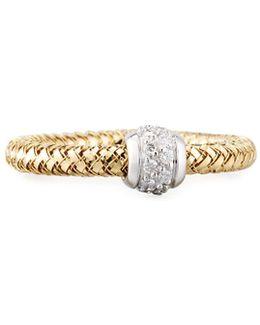 Primavera 18k Mini Ring W/ Diamonds
