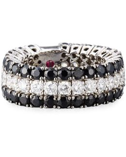 Fantasia 18k White Gold Diamond & Sapphire Band Ring
